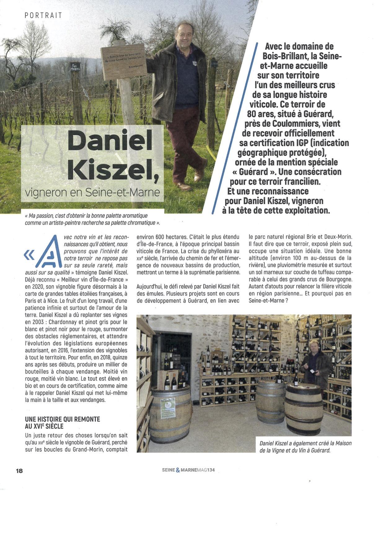 Read more about the article Daniel Kiszel, Vigneron en Seine-et-Marne